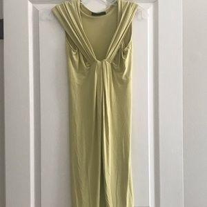Donna Karan Black Label Lime Green Gown Sz S